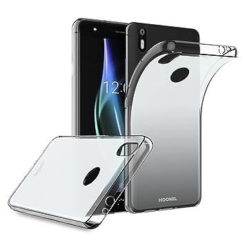 HOOMIL Funda BQ Aquaris X, Transparente Silicona Ultra Fina TPU Case Carcasa para BQ Aquaris X/X Pro - H3213