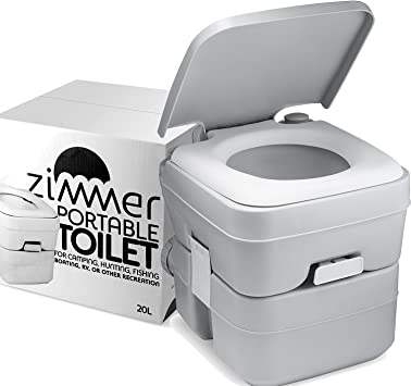 Amazon Com Portable Toilet Camping Porta Potty 5 Gallon Waste Tank Durable Leak Proof Flushable Easy To Use Rv Toilet With Detachable Tanks For Effortless Cleaning Carrying For Travel Boating