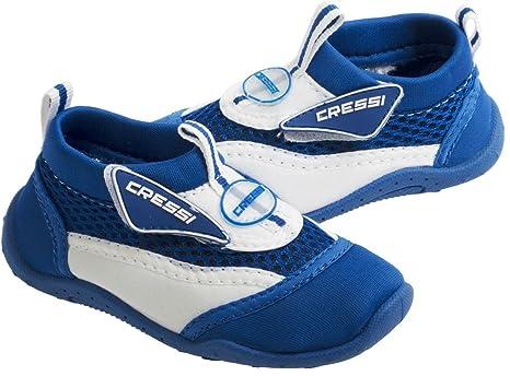 b104c3fd789eda EU 26-UK 85 Kids WhiteBlue Cressi Childrens Coral Water Shoes  Amazon.in   Baby
