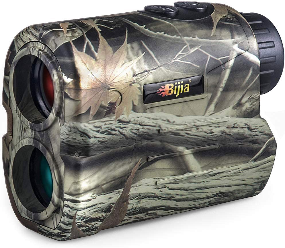 BIJIA Telémetro de Caza de Golf 650yd / 600 Metros, IP54 Impermeable Rangerfinder, con Pin/Range/Speed/Scanning Model, Telemetro de Medición de Velocidad para Caza, Rugby, Tenis, Golf -R600