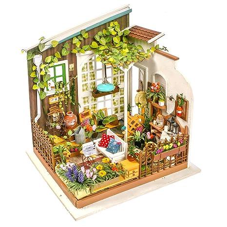 Amazon Com Eggschale 3d Mini Dollhouse Kit Miniatures Furniture Diy
