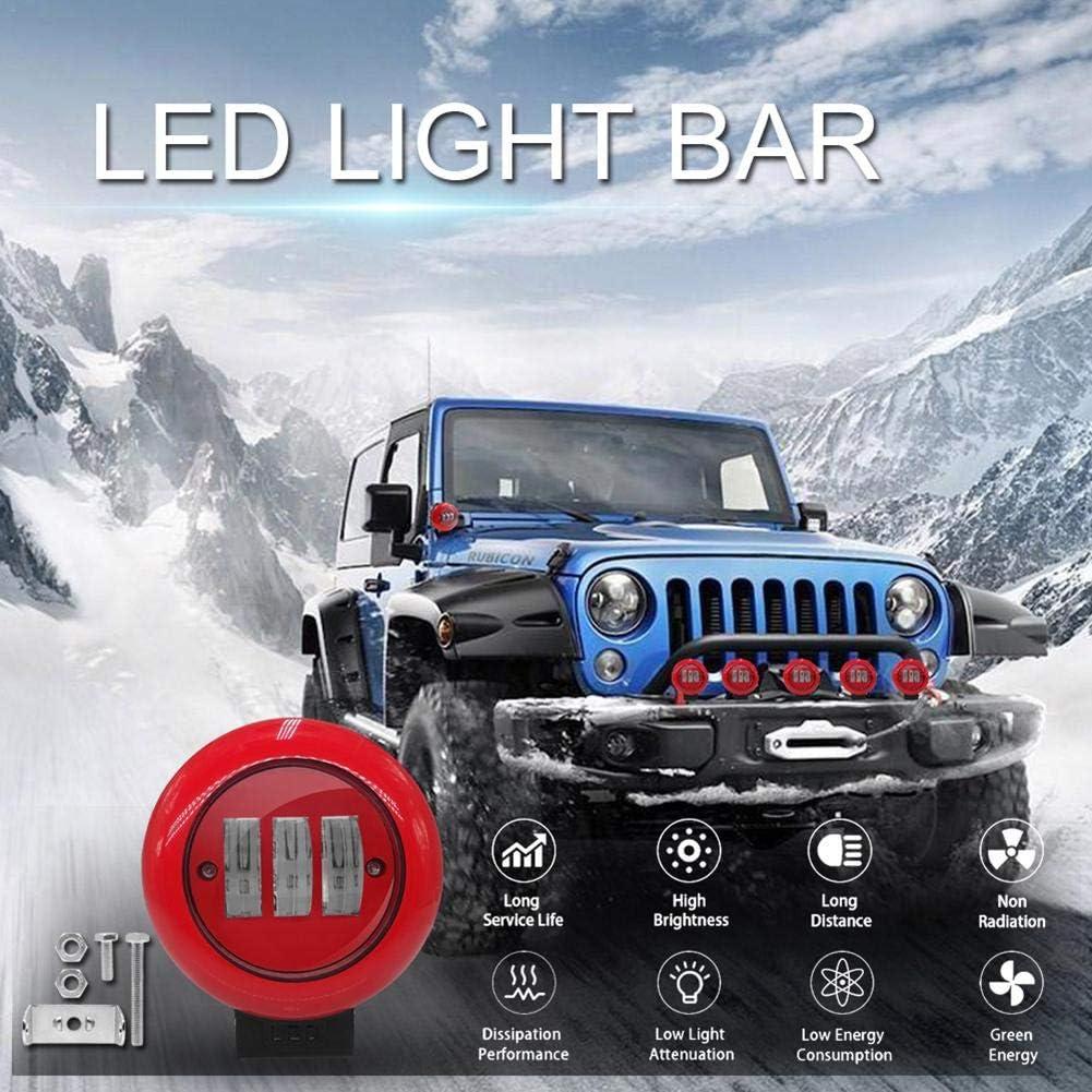 Halbmondlicht F/ür Offroad LKW SUV 12V Offroad Scheinwerfer IP68 Wasserdicht 30W 332PageAnn LED Zusatzscheinwerfer Arbeitsscheinwerfer Rund