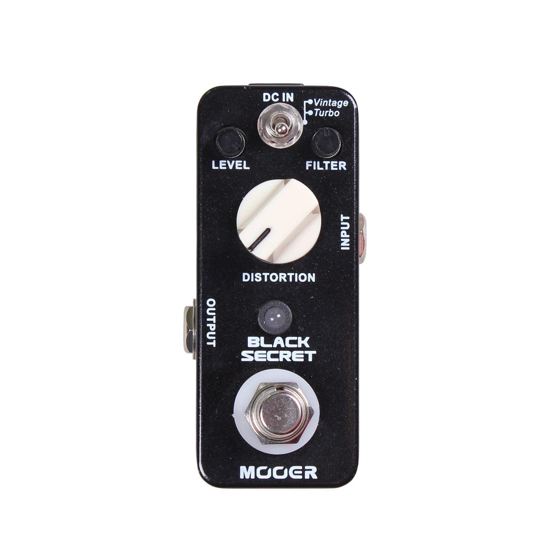 mooer black secret distortion micro pedal musical