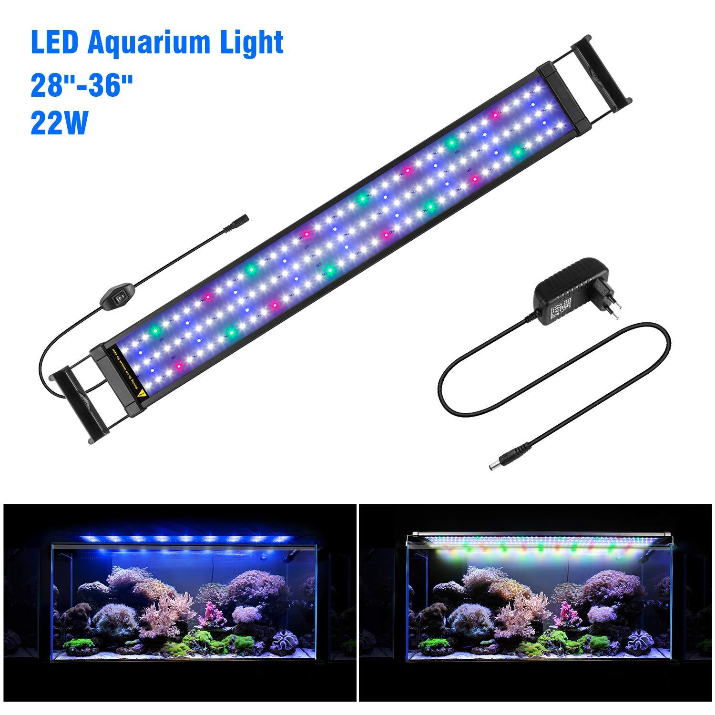 FTALGS Aquarium LED Beleuchtung Aquariumbeleuchtung Weiß Blau Rot Grün Von  Licht