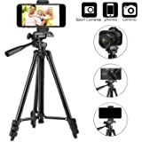 Tripod for iPhone, PEYOU 50 Inch Portable Lightweight Aluminum Phone Camera Tripod+Universal Smartphone Holder Mount+Carrying Bag for iPhone X/8/8 Plus/7/7 Plus/6 Plus/6s,Galaxy Note 8/S8/S8 Plus etc