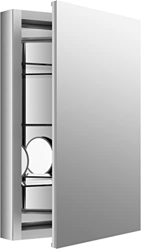 Medicine Cabinet by KOHLER, Bathroom Medicine Cabinet with Mirror, Verdera Collection, 20 Inch X 30 Inch, Slow Close Magnifying Mirror, K-99003-NA
