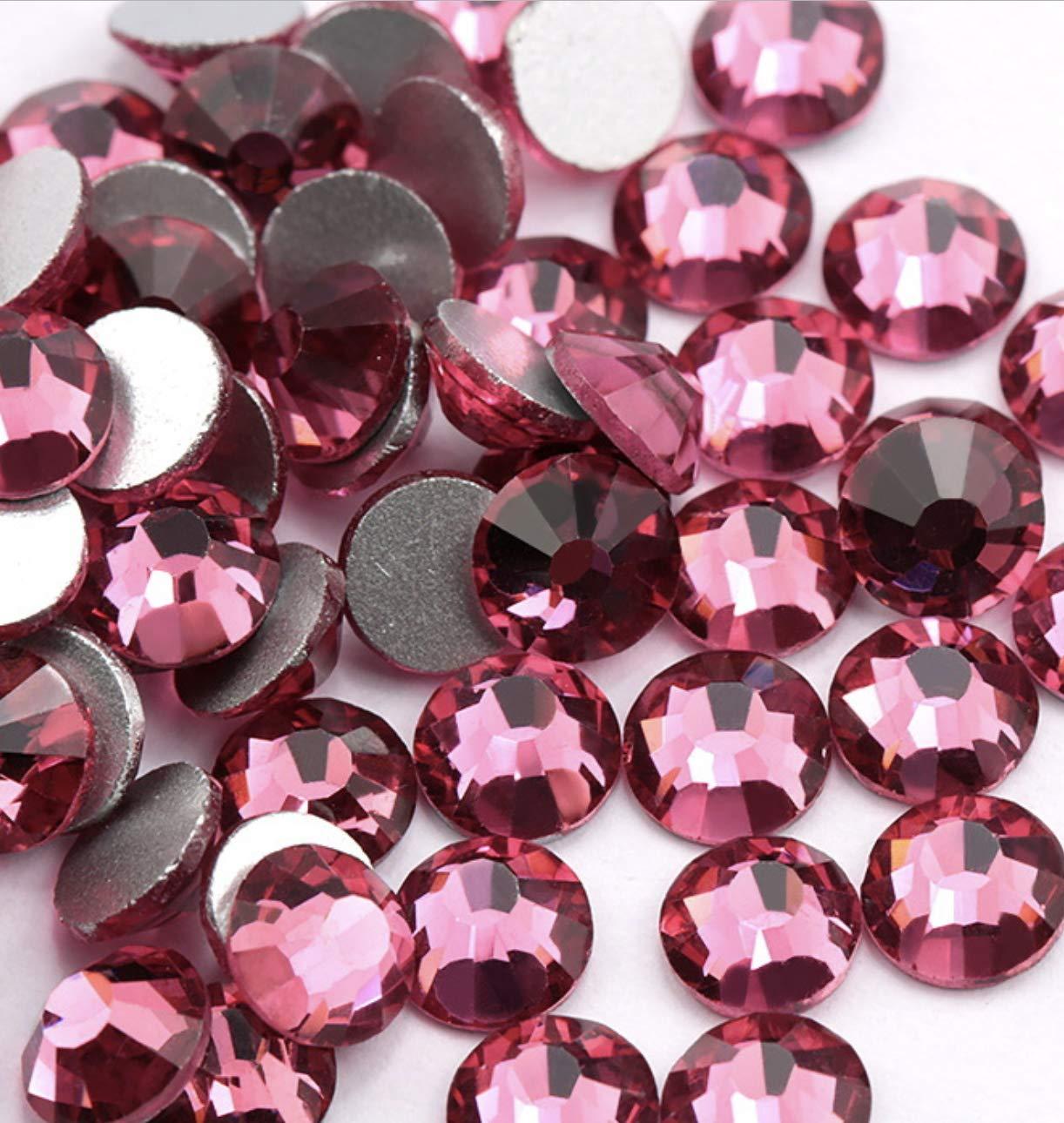 40 Jet Black 16 mm Love Heart Acrylic Rhinestone Gems Faceted Flatback Sew on