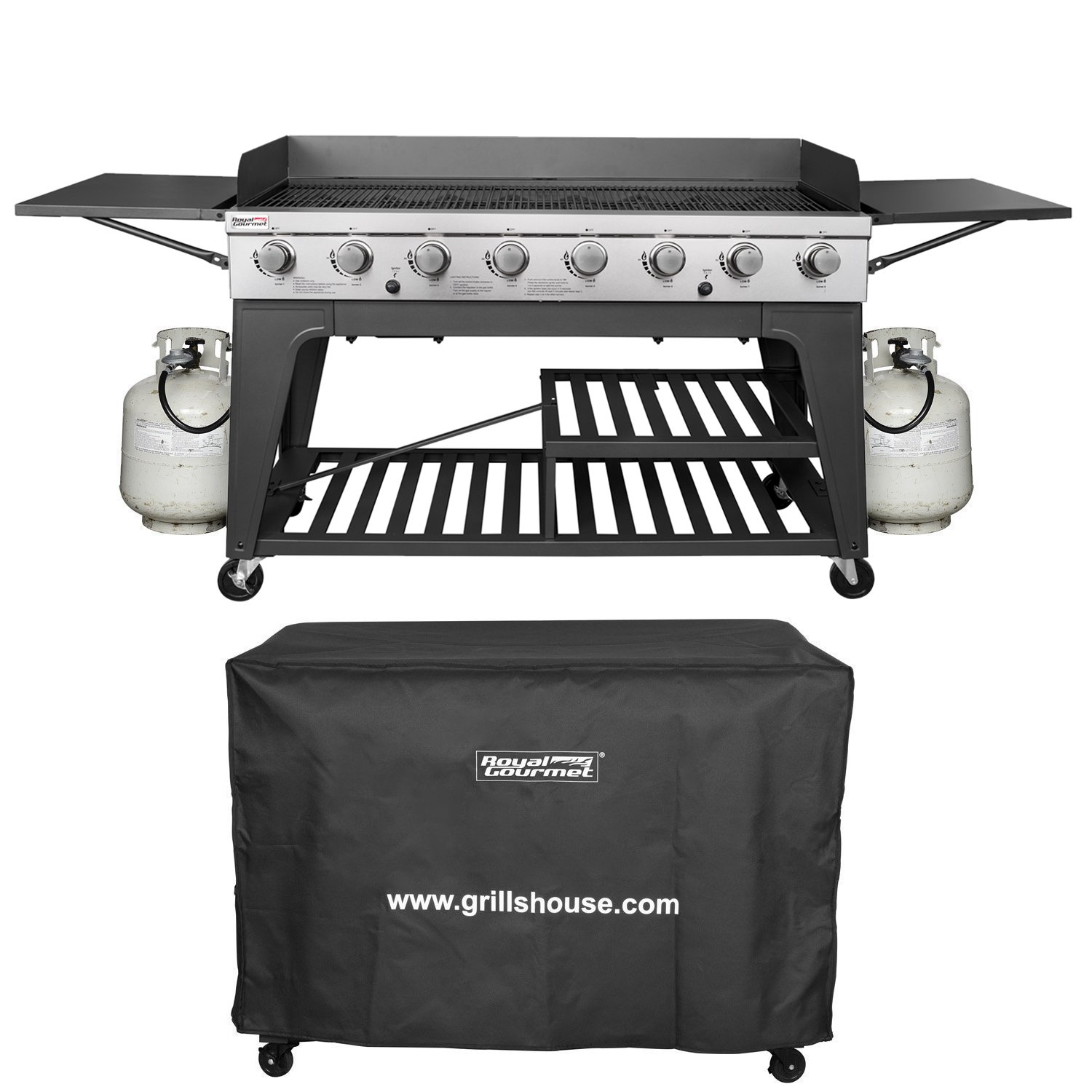 Royal Gourmet Event 8-Burner BBQ Propane Gas Grill with Cover