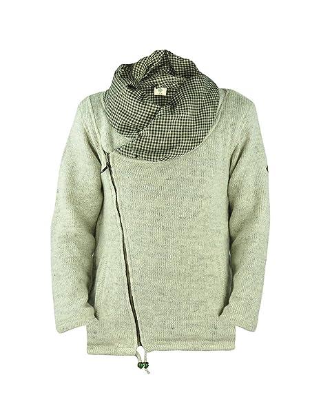 Chaqueta virblatt hombres revestida de lana abrigo de lana con cuello grande en tallas S, M, L, XL Chaqueta de temporada para el otoño 100 % lana natural- ...