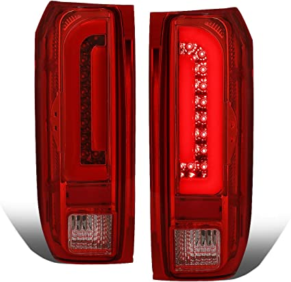 Fit 07-13 Cadillac Escalade Red Clear LED Taillights Replacement L+R