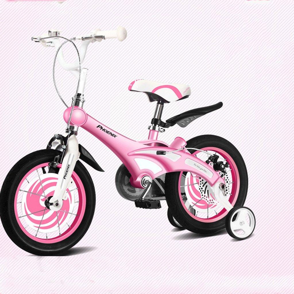 折り畳み子供の自転車12/14/16インチの男性と女性のベビー自転車2-8歳のベビーカーのマウンテンバイク (色 : ピンク ぴんく, サイズ さいず : 12インチ) B07DBWGMDP 12インチ|ピンク ぴんく ピンク ぴんく 12インチ