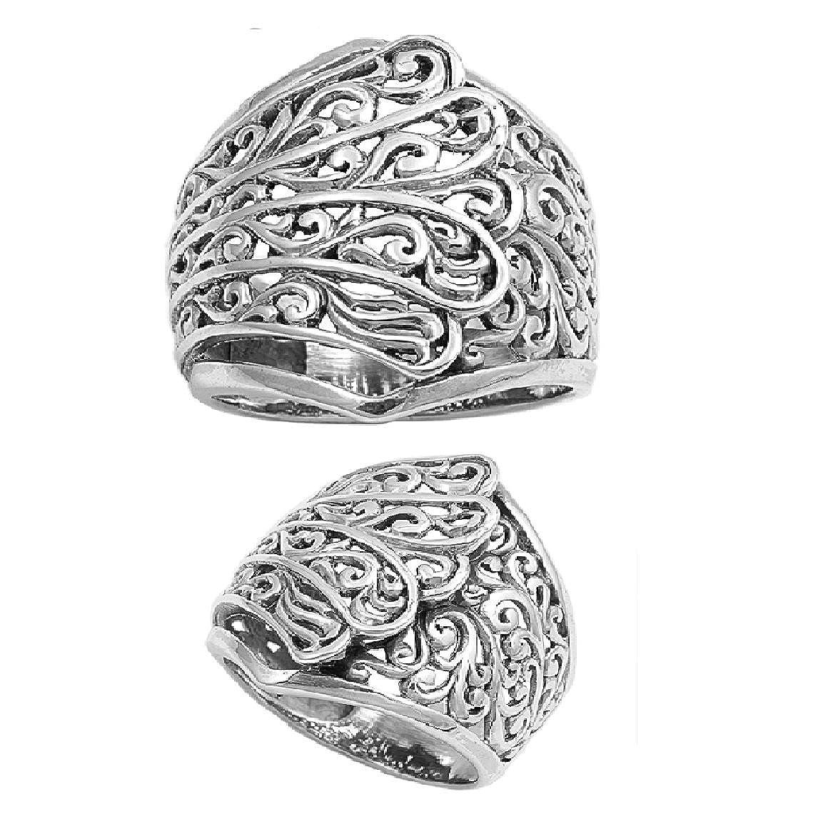 Princess Kylie 925 Sterling Silver Victorian Designer Filigree Art Ring