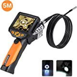 Digital Endoscope, Depstech Waterproof LCD Borescope Videoscope with CMOS Sensor Inspection Camera, 3.5inch Color LCD Screen,4 Zoom Options -16.4FT (5M)