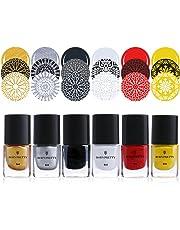 Esmalte de uñas, de Born Pretty, de color brillante, para impresión, para usar con plantillas, 6 ml