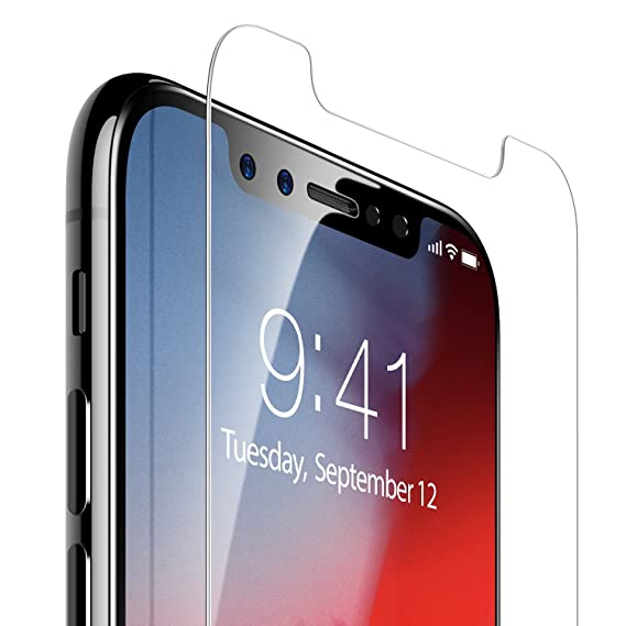 the latest 5c151 40851 iPhone Xs/iPhone X Screen Protector, TORRAS Ultra Clear Screen Protector  Ballistic Tempered Glass [Easy Install] [Case Friendly] [Anti-Fingerprint]  ...