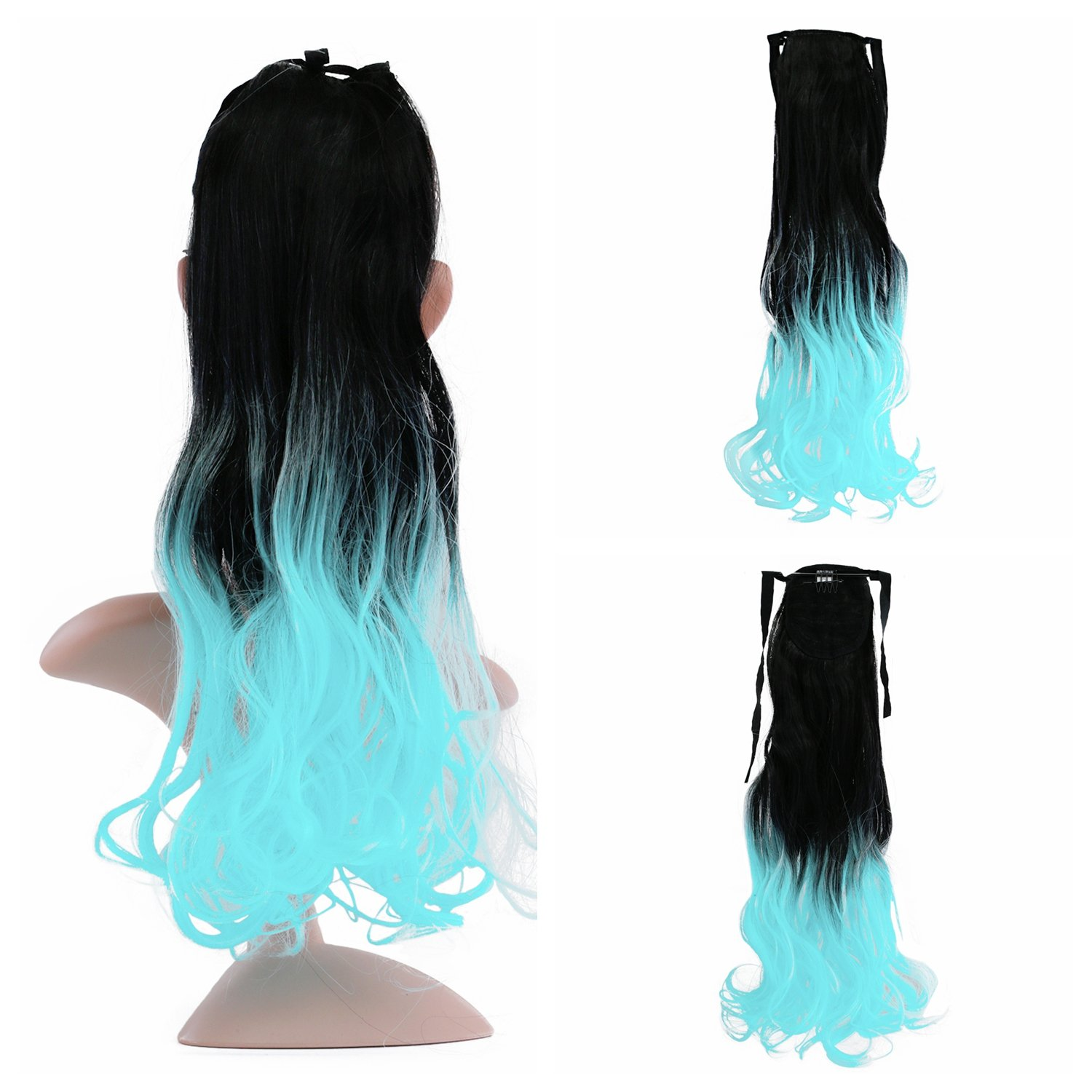 Amazon 23 Long Curly Wavy Tie Up Ponytail Hair Extensions