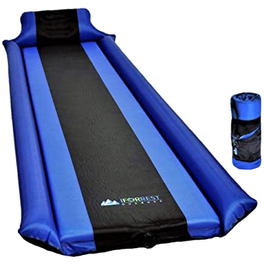 IFORREST Sleeping Pad with Armrest & Pillow – Self-Inflating Camping Air Mattress – Never let Your Arm & Feet Feel The Ground - Ultralight Foam Camp Mat