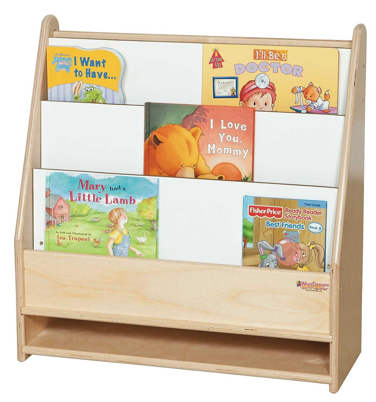 wood designs wd toddler bookshelf industrial