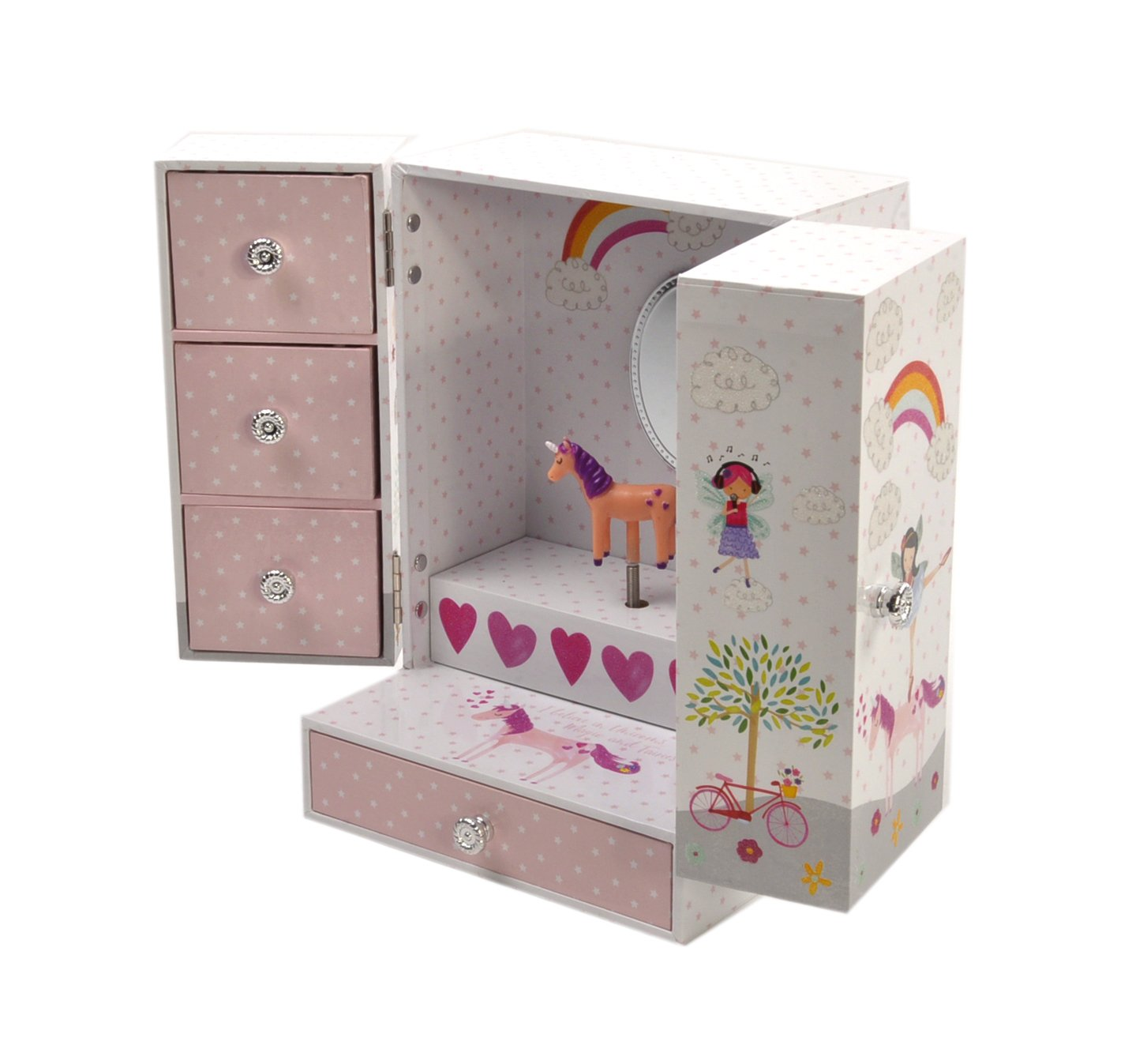Fairy Unicorn Musical Trinket Jewelery Box or Armoire