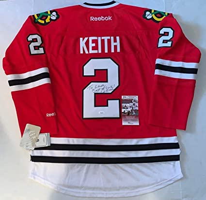 5558a317af6 Autographed Duncan Keith Jersey - Reebok Premier - JSA Certified -  Autographed NHL Jerseys at Amazon's Sports Collectibles Store