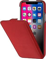 StilGut Housse pour iPhone XS & iPhone X en Cuir élégant à Ouverture Verticale et Fermeture clipsée