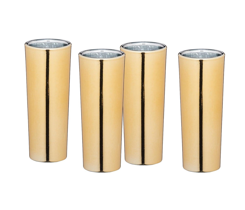 BarCraft Luxury Tall Shot Glasses, 60 ml (2 fl oz) - Metallic Gold Finish (Set of 4) KitchenCraft BCSGGLD4PC