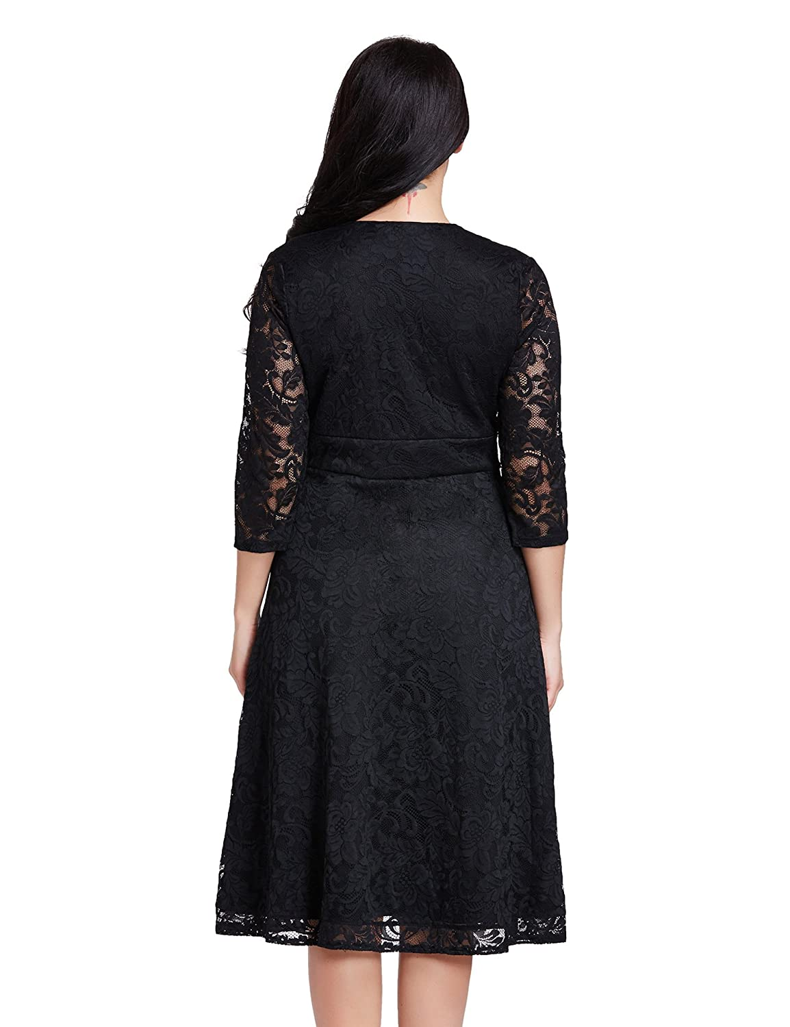 c819cf6e71ae Lookbook Store Women's Plus Size Lace Bridal Formal Skater Dress 12W-32W at  Amazon Women's Clothing store: