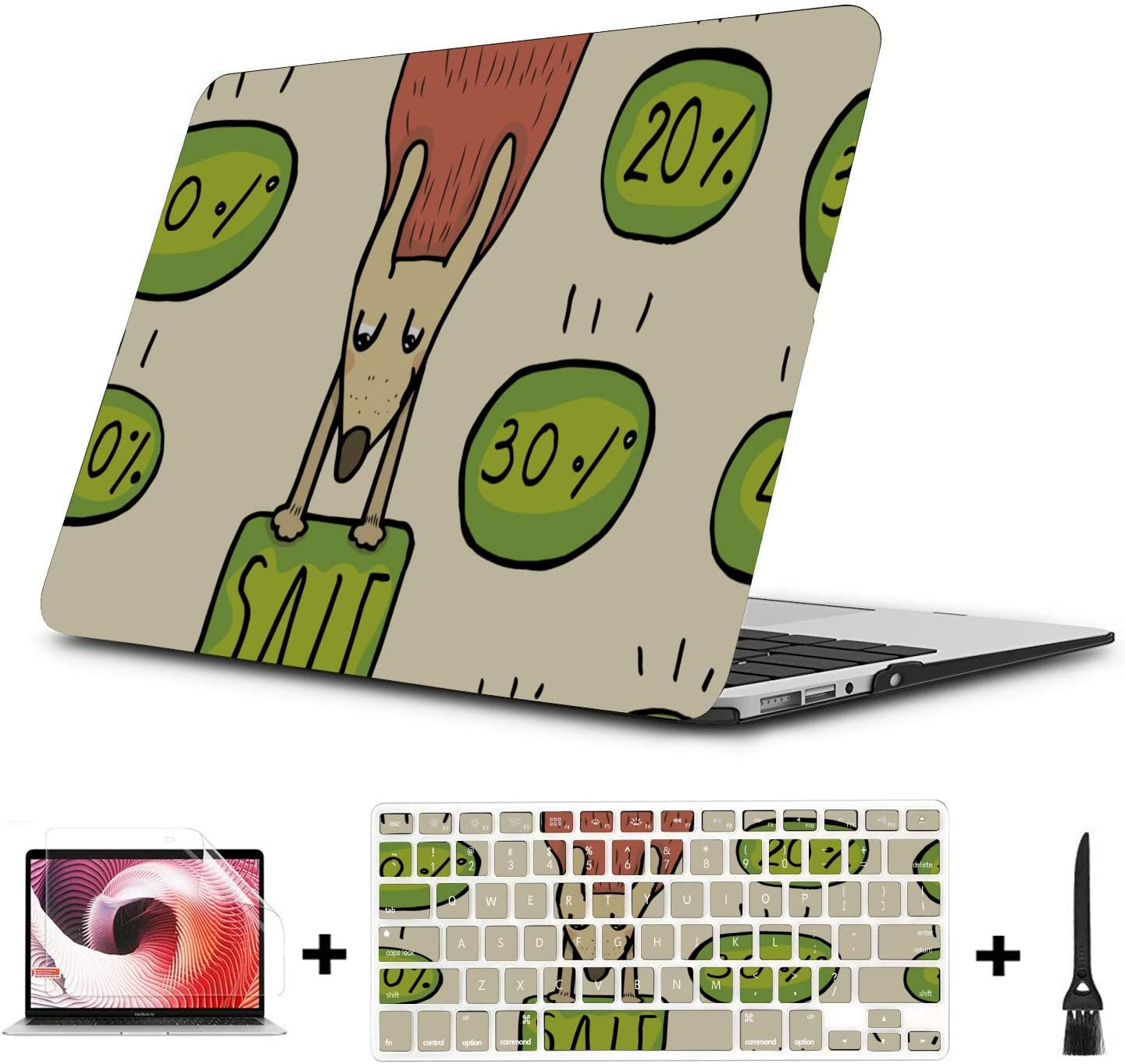 MacBook Air Computer Case Surprise Creative Happy Painting Plastic Hard Shell Compatible Mac Air 11 Pro 13 15 13inch MacBook Pro Case Protection for MacBook 2016-2019 Version