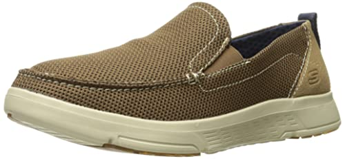 Skechers USA Mens Moogen Selden Slip-on Loafer,Beige,6.5 ...