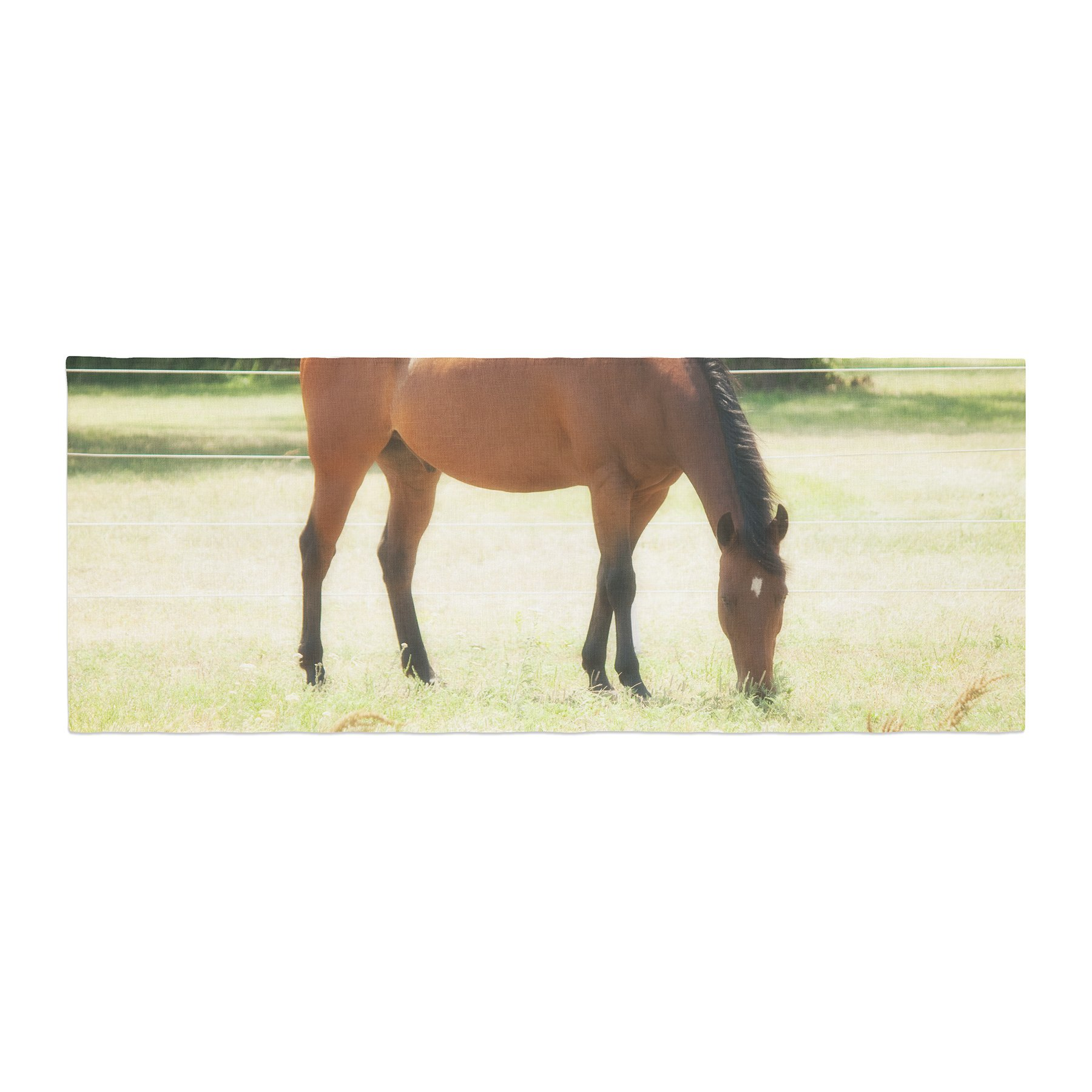 Kess InHouse Sylvia Coomes Grazing Brown Animals Bed Runner, 34'' x 86''