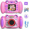 "Campark Front and Rear Selfie Kids Camera with 2"" Screen Anti-Drop Game"