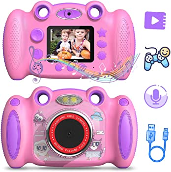 Campark Front and Rear Selfie Kids Camera with 2