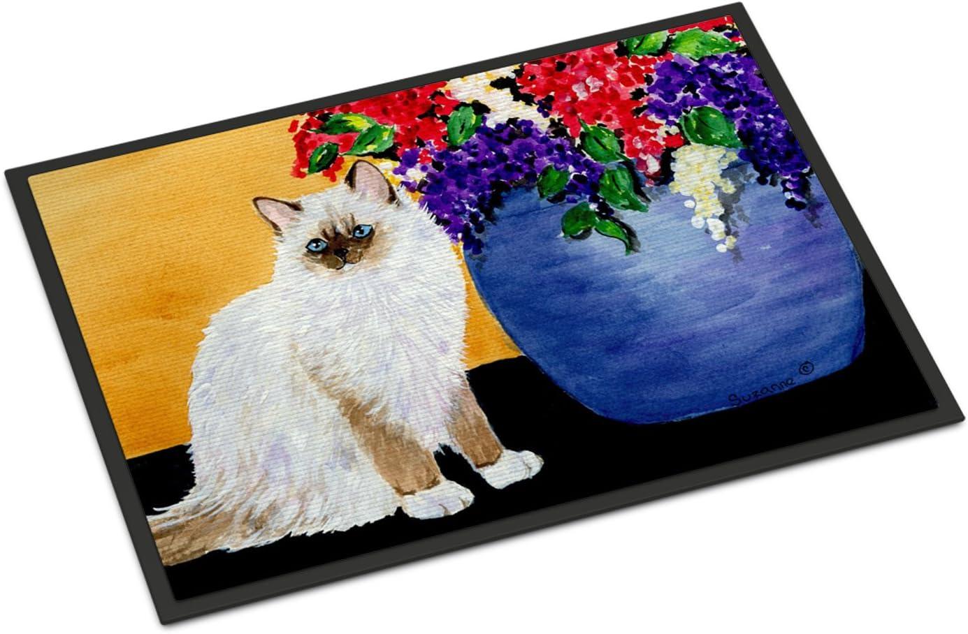 Caroline s Treasures SS8604JMAT Cat – Ragdoll Indoor or Outdoor Mat 24×36 Doormat, 24H X 36W, Multicolor