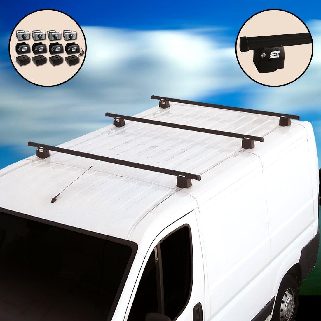 Kit Dachtr/äger mit Diebstahlsicherung Barro sistem Kastenwagen f/ür Fiat Fiorino ab 2008//2009//2010//2011//2012//2013//2014//2015//2016 in dann