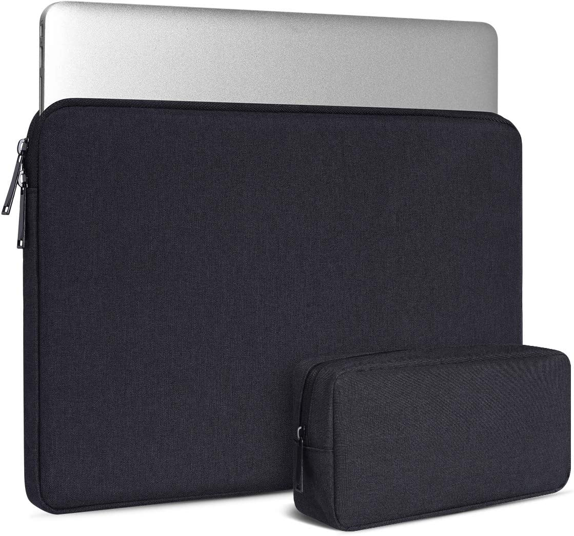 14 Inch Laptop Tablet Sleeve Case for Lenovo Yoga C930 C940 C740/Lenovo Ideapad 14/Lenovo Chromebook S330/Lenovo Thinkpad x1 Carbon 14, Dell XPS 15 9570 9575 7590, with Small Bag, Black