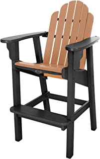 product image for Nags Head Hammocks Classic Bar Dining Chair, Black and Cedar