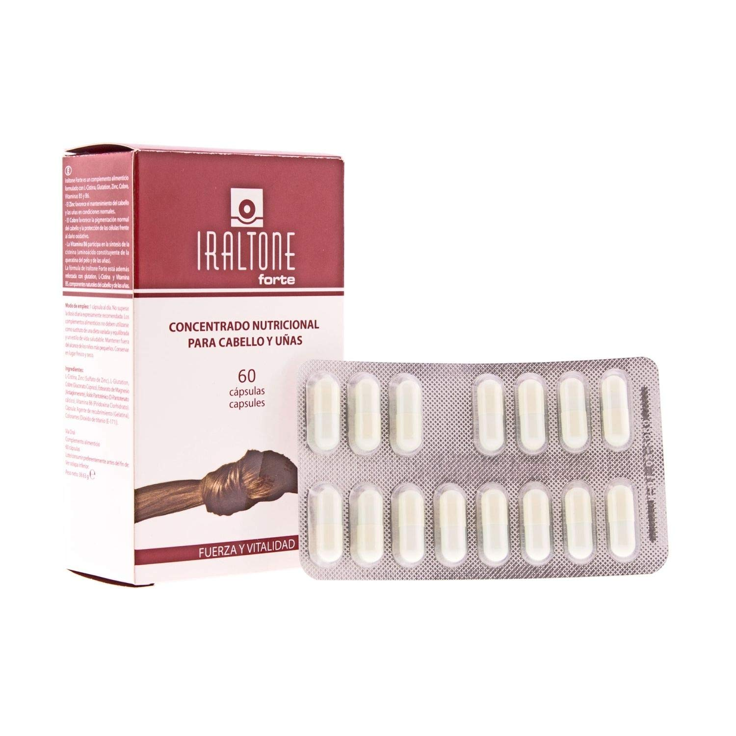 Amazon.com : Iraltone Forte 60 caps - Nutritional Complex for Hair and Nails - Hair Reinforcement - Hair Care - Nail Care : Beauty