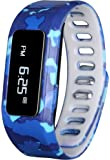 GabbaGoods GG-KAT-BCA Kids Fitness Watch Activity Tracker, Kids Smart Wristband Watch, Wireless (Activity Health Tracker) Wearable Printed Band Pedometers - Blue Camo