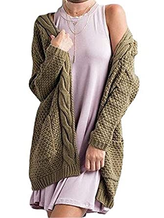 e80a470c22 EastLife Women s Open Front Cardigans Chunky Boyfriend Warm Pointelle Long  Sleeve Sweater Tops (Small
