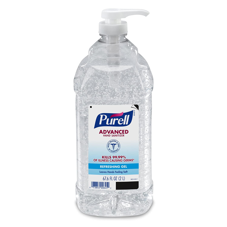 Absolute ethyl alcohol bottle vintage chemical bottle science lab - Amazon Com Purell 962504ct Advanced Instant Hand Sanitizer 2 Liter Bottle 4 Per Carton Health Personal Care