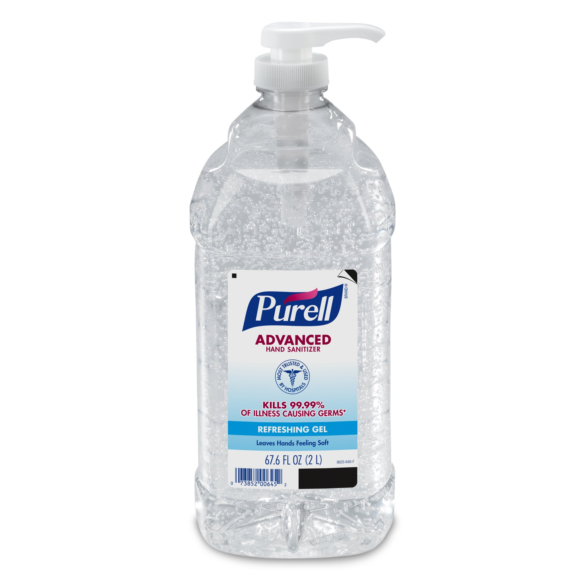 PURELL Advanced Hand Sanitizer Refreshing Gel for Workplaces, Clean Scent, 2 Liter pump bottle (Pack of 1) - 9625-04-EC by Purell