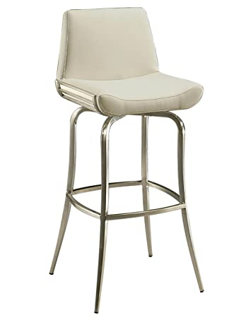 Impacterra Degorah Swivel Stool, Stainless Steel, Bar Height
