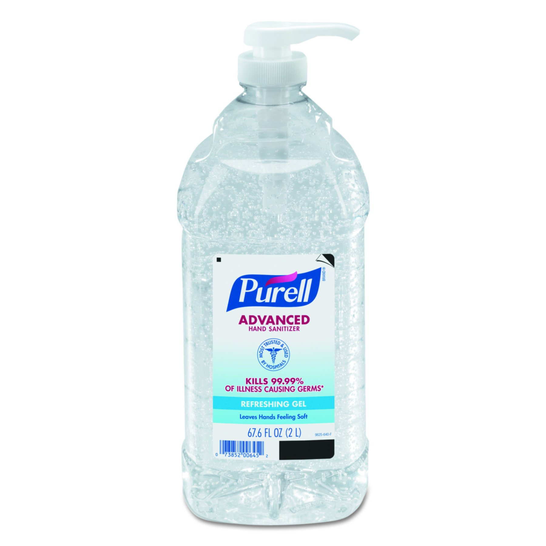 PURELL Advanced Hand Sanitizer - Hand Sanitizer Gel, 2L Pump Bottle (Case of 4) - 9625-04