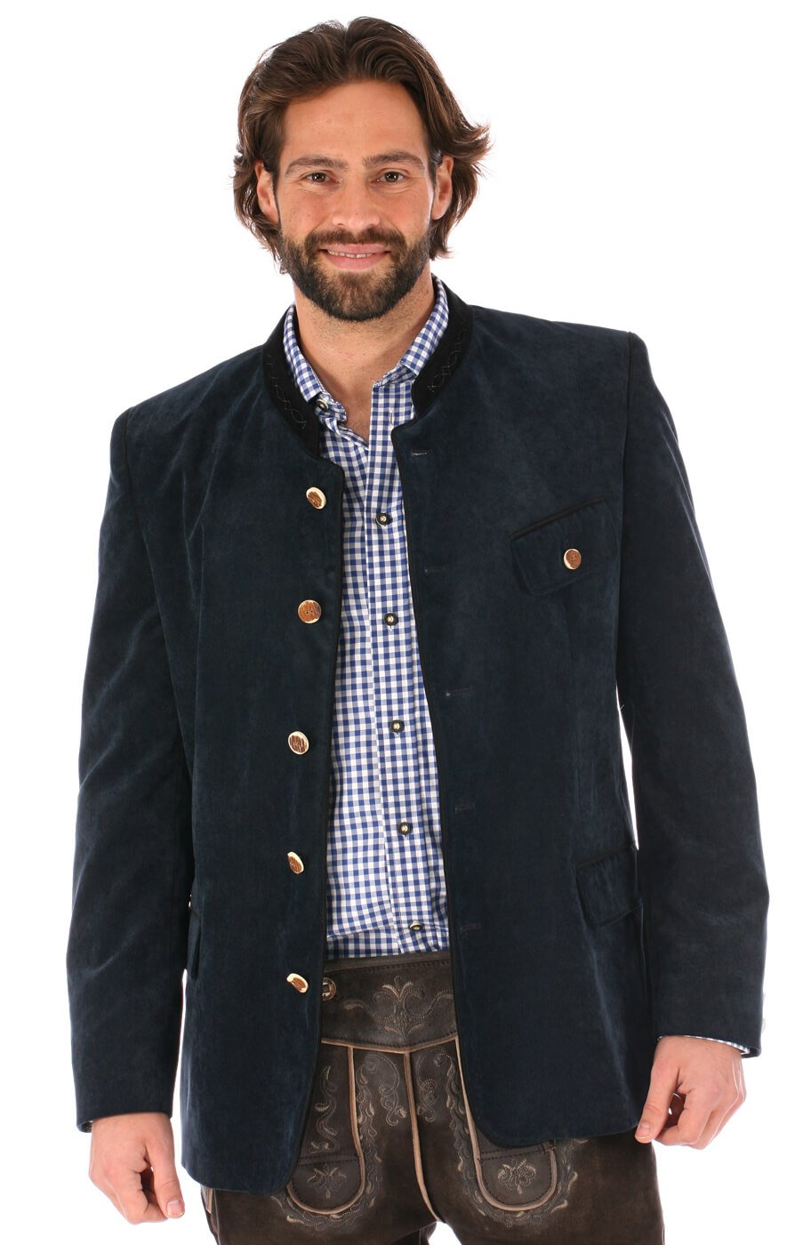 German traditional jacket Jannik blue by Orbis