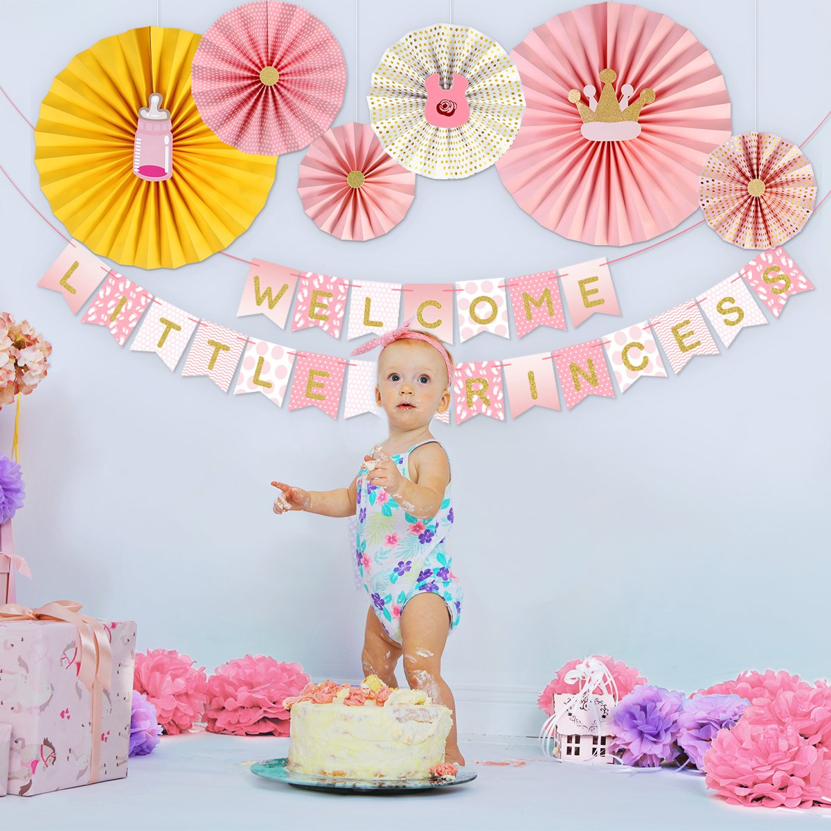 Event & Party New Diy Album Monthly Paper 1st One Year Photo Booth Birthday Banner Baby Photos Show Baby Photo Album Party Decoration Supplies Bringing More Convenience To The People In Their Daily Life