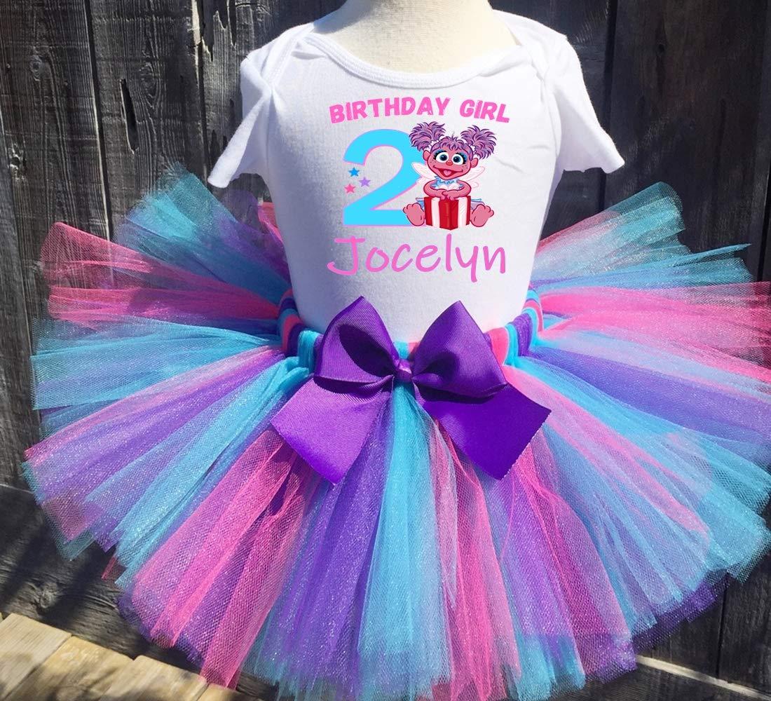 Abby Cadabby Birthday Tutu 2nd Birthday Party Dress Pink Tutu Outfit Shirt Sesame Street