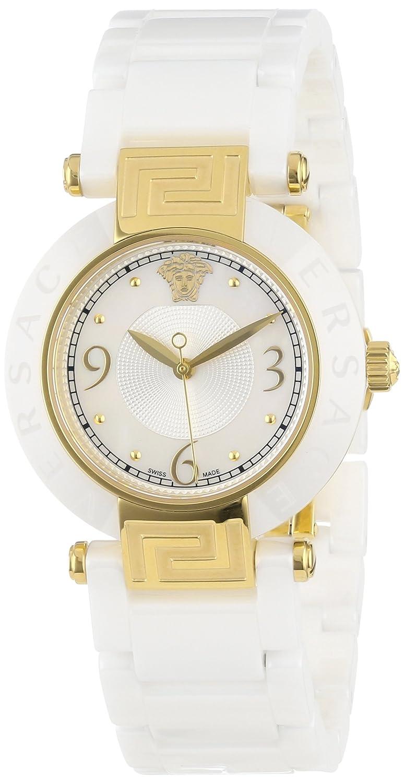 d33c06c40 Amazon.com: Versace Women's 'Reve Ceramic 3H' Swiss Quartz Stainless Steel  Dress Watch, Color:White (Model: 92QCP1D497 SC01): Versace: Watches