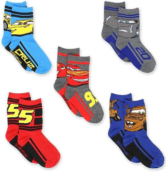 12 Pairs Boys Disney Cars Lightning Mcqueen Mater Socks