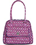 Vera Bradley Katalina Pink Diamonds Turnlock Satchel