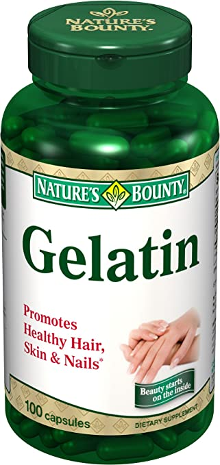 Amazon.com: Gelatin 10 Grains Capsules For Beauty Of Nails, By ...